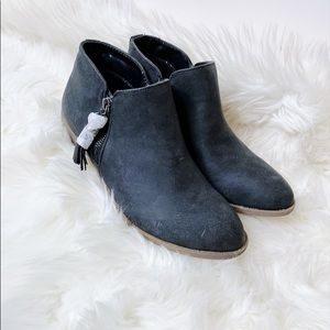 NWT Gray Almond Toe Short Spring Ankle Booties
